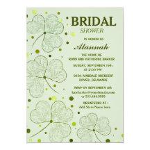 Shamrock Polka Dots Bridal Shower 2 Card