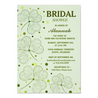 Shamrock Polka Dots Bridal Shower 2 Card at Zazzle