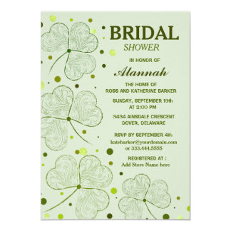 Shamrock Polka Dots Bridal Shower 2 Card