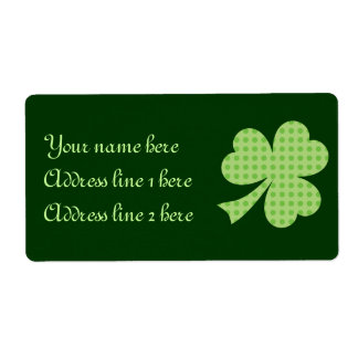 Shamrock Polka dots St. Patrick's Day label