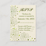 Shamrock Polka Dots Wedding RSVP Enclosure Card