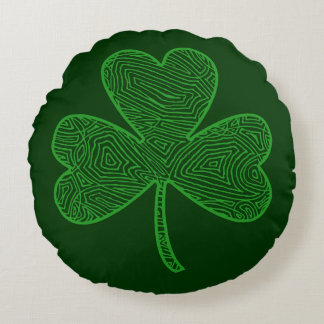 Shamrock Round Pillow