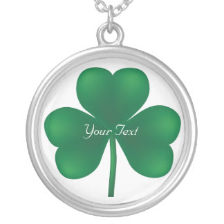 Shamrock Round Sterling Silver Necklace