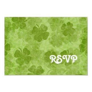 "Shamrock RSVP Card 3.5"" X 5"" Invitation Card"