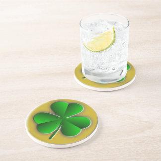 Shamrock Sandstone Drink Coaster