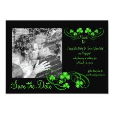 Shamrock Save The Date Card at Zazzle