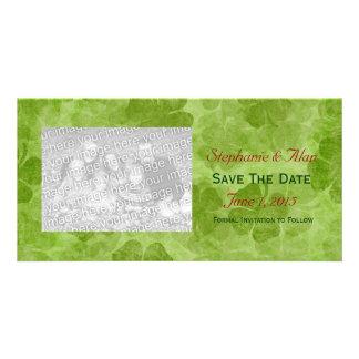 Shamrock Save The Date PhotoCards Card
