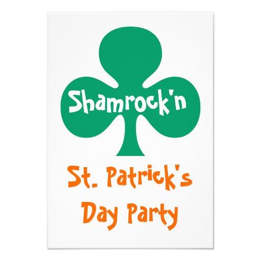 Shamrock shamrock'n party Invitation kelly green