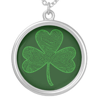 Shamrock Silver Plated Necklace
