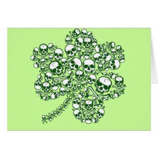 Shamrock Skulls Greeting Card