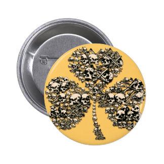 Shamrock Skulls Gothic Buttons