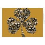 Shamrock Skulls Gothic Greeting Card