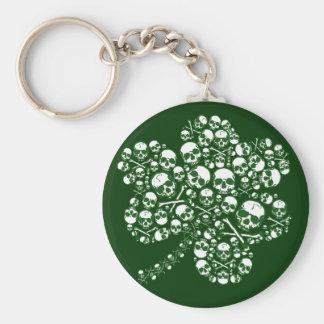 Shamrock Skulls Keychain