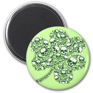 Shamrock Skulls Magnet