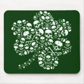 Shamrock Skulls Mouse Pad