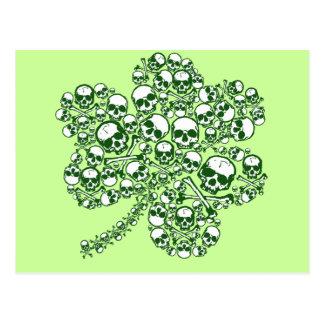 Shamrock Skulls Postcard