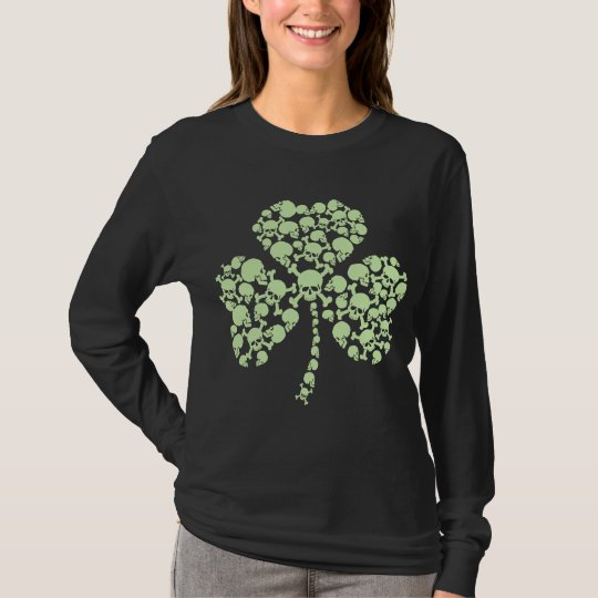 Shamrock Skulls St Patricks Day T-Shirt