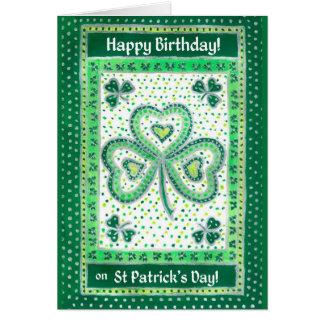 Shamrock St Patrick's Day Birthday Card