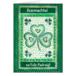 Shamrock St Patrick's Day Card Irish Greeting
