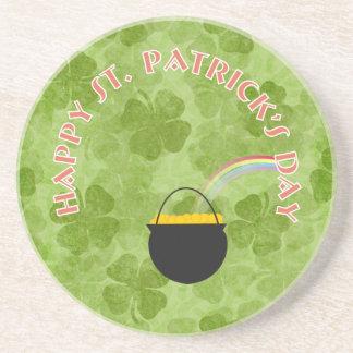 Shamrock St. Patrick's Day Coaster