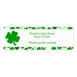 Shamrock St. Patricks Day Custom Favor Tag Business Card
