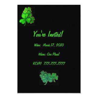 Shamrock  St. Patrick's Day Invitation