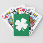 Shamrock  St Patricks Day Ireland Bicycle Playing Cards