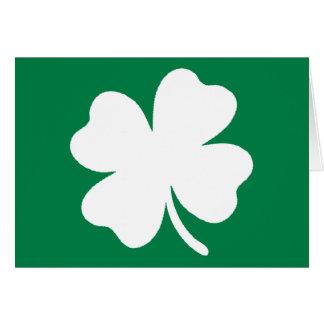 Shamrock  St Patricks Day Ireland Greeting Card
