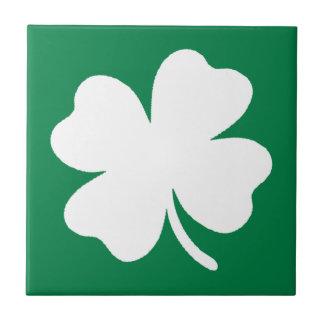 Shamrock  St Patricks Day Ireland Ceramic Tile