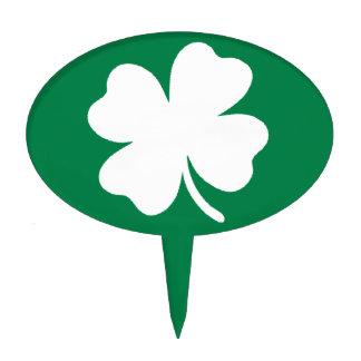 Shamrock  St Patricks Day Ireland Green Clover Cake Topper