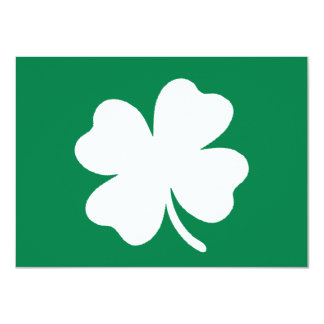 "Shamrock  St Patricks Day Ireland 4.5"" X 6.25"" Invitation Card"