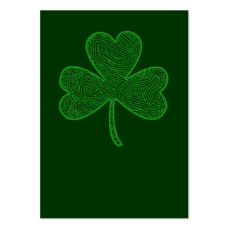 Shamrock St. Patrick's Day Large Business Card