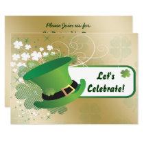 shamrock St Patricks Day party Invitation