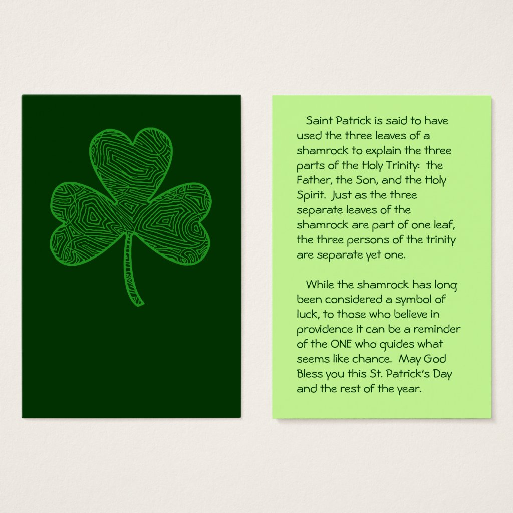 Shamrock St. Patrick's Day Wallet Cards