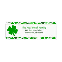 Shamrock St Patty's Day St. Patrick's Day Address Label