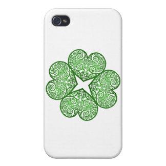 Shamrock Swirls iPhone 4 Covers
