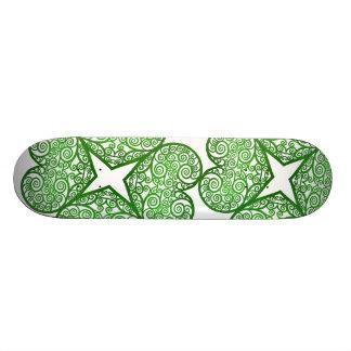 Shamrock Swirls Skateboard Deck