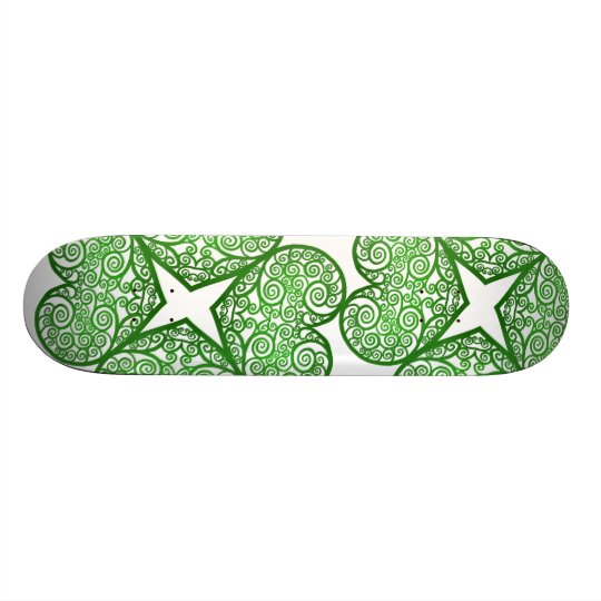 Shamrock Swirls Skateboard Deck
