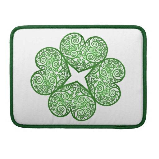 Shamrock Swirls Sleeves For MacBooks
