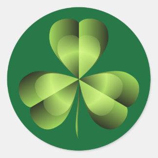 Shamrock Three Leaf Clover Graphic Classic Round Sticker