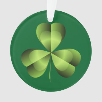 Shamrock Three Leaf Clover Graphic Ornament