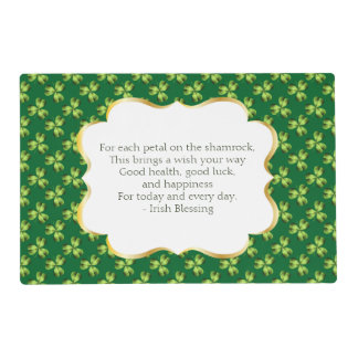 Shamrock Three Leaf Clover Graphic Placemat