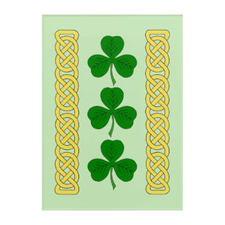 Shamrock Trio and Knotwork Bands Acrylic Print