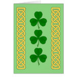 Shamrock Trio and Knotwork Bands Card