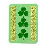 Shamrock Trio and Knotwork Bands Magnet