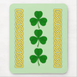 Shamrock Trio and Knotwork Bands Mouse Pad