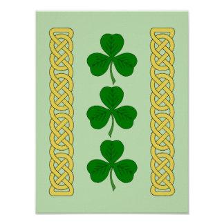 Shamrock Trio and Knotwork Bands Poster