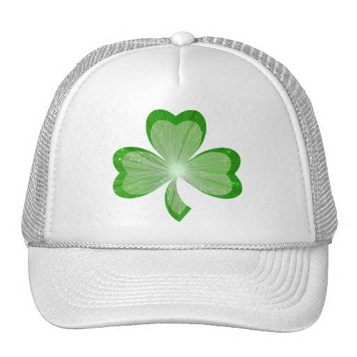 Shamrock trucker hat white