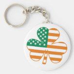 Shamrock USA Basic Round Button Keychain