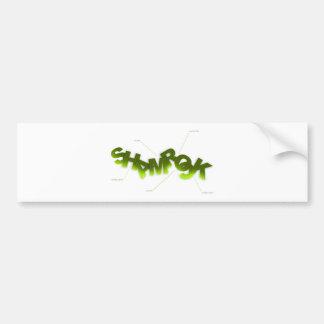 Shamrock - Wear it proud! Bumper Sticker